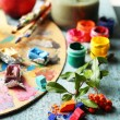 Still life with professional art materials — Stock Photo #57052685