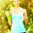 Young woman after long run at park — Stock Photo #57244797