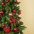 Decorated Christmas tree — Stock Photo #57245655
