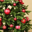Decorated Christmas tree — Stock Photo #57245677
