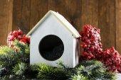 Ręcznie birdhouse — Zdjęcie stockowe