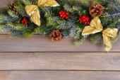 Beautiful Christmas border — Stock Photo