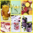 Collage of cold summer beverages — Stock Photo #57303731