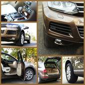 Modern car collage — Stock Photo