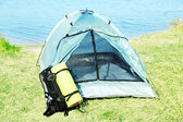 Touristic tent — Stock Photo