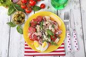 Breakfast consisting of vegetable salad — Stock Photo