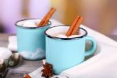 Cup of tasty hot cocoa — Stock Photo