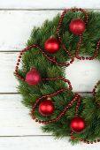 зеленый рождественский венок — Стоковое фото