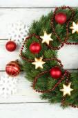 Guirnalda de navidad verde — Foto de Stock