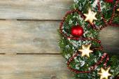 Grön jul krans — Stockfoto