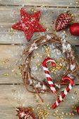 Assortment of Christmas decorations — Stock fotografie