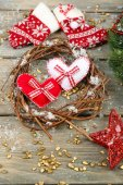 Assortment of Christmas decorations — 图库照片
