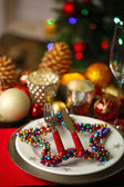 Serving Christmas table — Foto de Stock