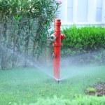 Irrigation system in garden — Stock Photo #57611593