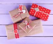 Cuatro cajas de regalo — Foto de Stock