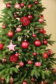 Christmas tree in room — Photo