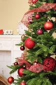 Christmas tree in room — Stock Photo
