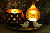 Složení s krásné svícny — Stock fotografie