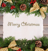 Christmas decoration with paper sheet — Stock Photo