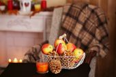 Festive autumn serving table — Stockfoto