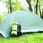 Touristic tent on grass — Stock Photo #57868673