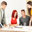 Group of people having meeting in office — Stock Photo #57868979