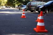 Traffic road cones — Photo