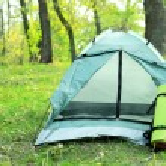 Touristic tent on grass — Stock Photo #57874223