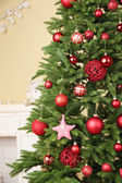 Decorated Christmas tree — Stockfoto