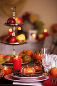 Festive autumn serving table — Stock fotografie