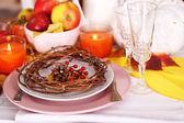 Jesień serwowania tabeli — Zdjęcie stockowe