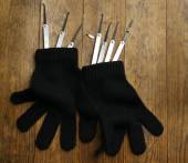 Lock picks with gloves — Stock Photo
