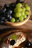 Tasty bread with grape — Stock Photo