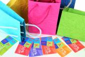Set of coupons for shopping — Stock Photo