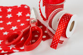 Ribbons with scissors — Stockfoto