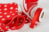 Ribbons with scissors — Stockfoto
