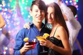 Young people dancing at party  — Stock Photo