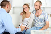 Couple after therapy session with psychologist — Stock Photo