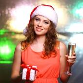 Young Christmas woman — Stock Photo