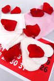 Sanitary pads on calendar — Stock Photo
