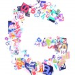 Letter G made of colorful newspaper letters — Stock Photo #59733071