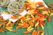 Variety of colorful pasta — Stock Photo