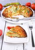 Piece of casserole with vegetables — Photo