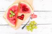 Fresh juicy watermelon slice — Stock Photo