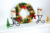 Beautiful Christmas decorations close-up — Stock Photo