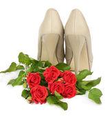 Sapatos de mulher bonita — Fotografia Stock