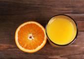Glass of orange juice — Stock Photo