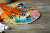 Colorful art materials — Stock Photo