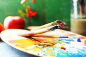Colorful professional art materials — ストック写真