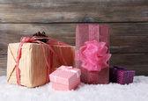 Urlaub Geschenk-Boxen — Stockfoto
